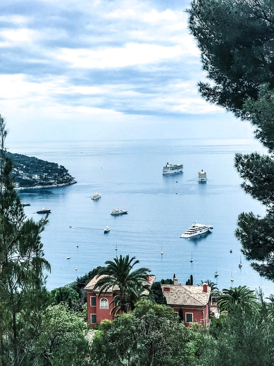 View of the Bay of Villefranche.